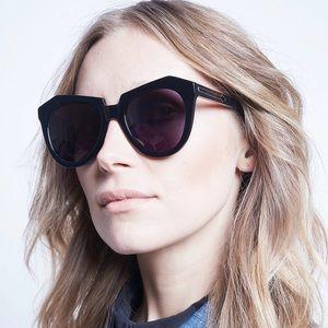 Karen Walker Number One Sunglasses Black w/ Case